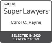 Carol Payne - Super Lawyers 2020 badge